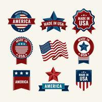 Vintage Amerikaanse etiketten vector