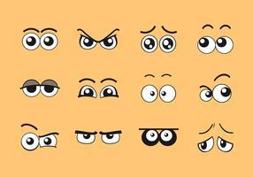 cartoon ogen vector set