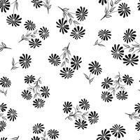 Naadloze bloemmotief. Bloem achtergrond. Gegraveerde textuur vector