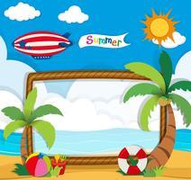 Grensontwerp met zomerthema