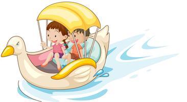 Kinderen in boot