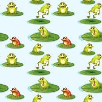 Naadloos ontwerp van de kikkers bij de vijver