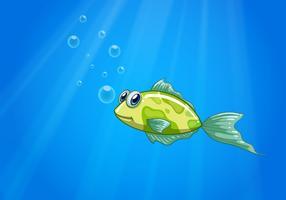 Een kleine vis in de oceaan vector