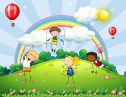 Kinderen en park vector