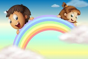 De regenboog vasthouden