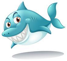 Een haai lachend