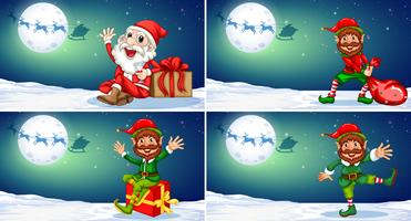 Een set van Kerstmis sjabloon vector