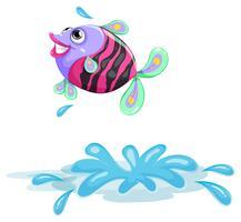 Een kleurrijke vis