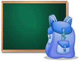 Een zak voor het lege schoolbord vector
