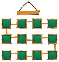 Lege vierkanten en banner op wit vector