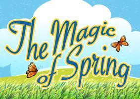 De magie van de lente vector