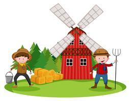 Boeren en schuur