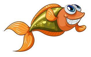 Een lachende kleine vis vector