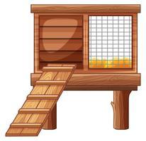 Kippenhok gemaakt van hout