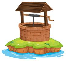 een bron en water