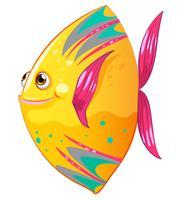 Een grote kleurrijke vis vector