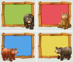 Frame ontwerp met wilde dieren vector