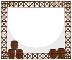 Frame ontwerp met houten vaten