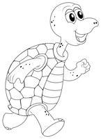 Dierlijke schets voor schildpad