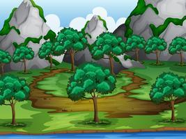 Bomen en bergen