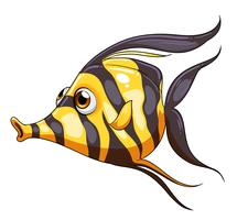 Een streepgekleurde vis vector