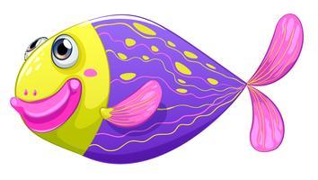 Een verlegen vis vector