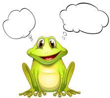 Een kikker met een lege gedachte vector