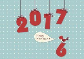 2017 Nieuwjaar Vogel Vector Wallpaper