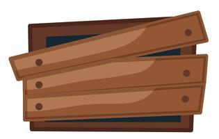 Gebroken raam met planken erop genageld