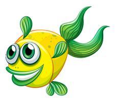 Een lelijke vis vector