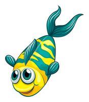 Een vis in het water vector