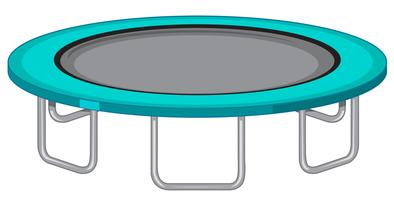 Grote trampoline witte achtergrond