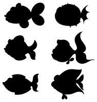 Silhouetten van vissen