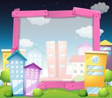 Grensontwerp met gebouwen en huizen