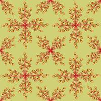 Abstract geweven bloemen naadloos patroon. Geometrische bloemen vector