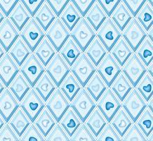 hart patroon. het is een jongens naadloos patroon. diamantpatroon.