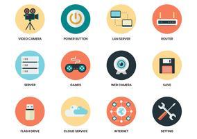 Bedrijfsdiepictogrammen voor bedrijfsaffiche worden geplaatst vector