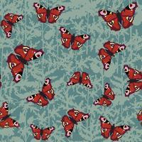 Vlinder naadloos patroon. Zomer vakantie wildlife achtergrond. vector