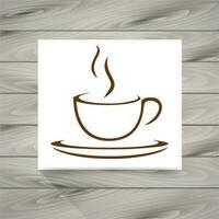 Koffiekopje pictogram vector