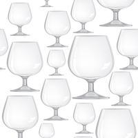 Wijnglas naadloze patroon. Drink wijn achtergrond. Feestelijk feest decor