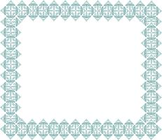 Frame in doodle stijl. Retro rand vector