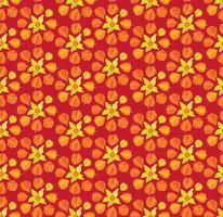 Abstract bloemen naadloos patroon. Winter kersen ornament