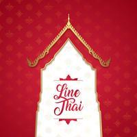 De Thaise tempel van de kunstluxe, achtergrondpatroondecoratie voor druk, vliegers, affiche, Web, banner, brochure en kaartconcept vectorillustratie