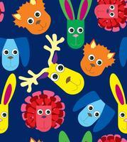 Uitstekend patroon met babyspeelgoed. Schattige kinderen pluizige speelgoed illustratie. vector