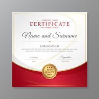 Certificaat en diploma van appreciatieluxe en de moderne vectorillustratie van het ontwerpmalplaatje vector
