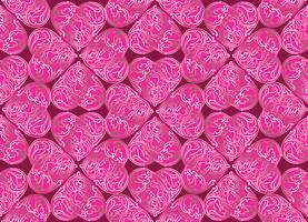 Liefde hart doodle naadloze patroon Valentine dag vakantie tegel ornament vector