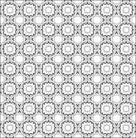 Naadloos lijnpatroon. Abstract bloemenornament. Geometrische textuur vector