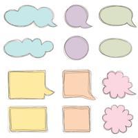 Speech bubble set. Chat-pictogram. Papieren blad voor elementen met notekader vector