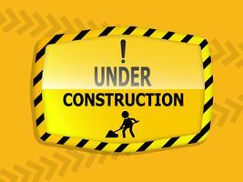 onder constructie label
