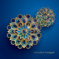 Papier grafisch van islamitische geometrische kunst vector